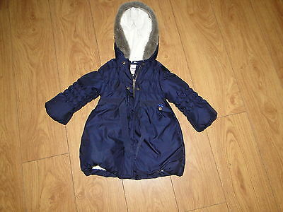 Junior j jasper conran debenhams girls thick warm coat age 2 to 3 years