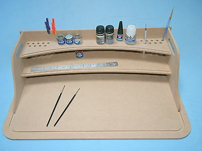 Large 60x40cm Model Hobby Desk Paint Station Tray, Wargaming Model Making