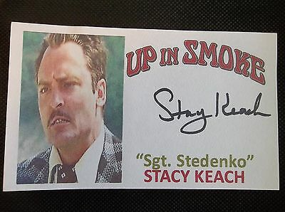 """""""Cheech & Chong Up in Smoke"""" Stacy Keach Autographed 3x5 Index Card"""
