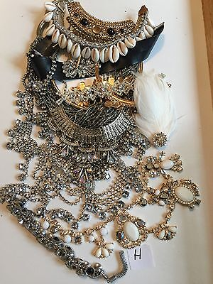Job lot H Diamanté Crystal Vintage Broken Jewellery Shabby Chic Crafts Up Cycle