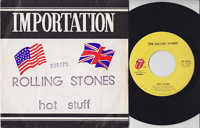 """The ROLLING STONES * Hot stuff * 1976 non UK 7"""" * French-US EXPORT 45 *"""