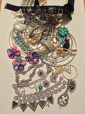 Job lot 4 Diamanté Crystal Vintage Broken Jewellery Shabby Chic Crafts Up Cycle