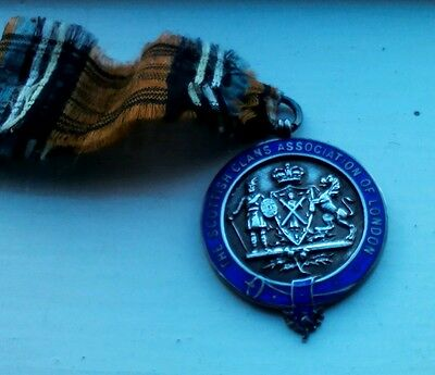 Sterling silver and enamel Scottish Clans Association of London medal