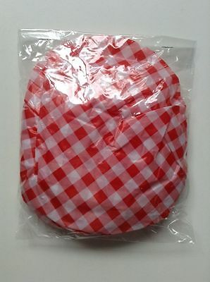 10 Elastic Bowl Covers Plastic Bowl Saver Various Sizes NEW Red