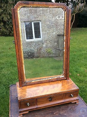Late 18th Century Georgian or Regency Toilet Mirror Restoration Repair TLC 19th