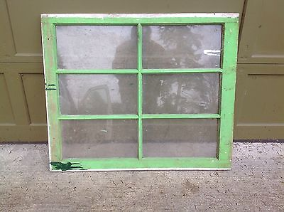 Vintage Sash Antique Wood Window Picture Frame Wedding 6 Pane 30X36