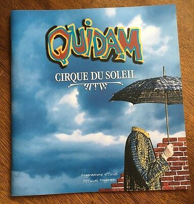 Cirque De Soleil Quidam Official Program Mint- Theater Acrobat