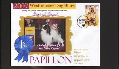 W/M 2007 DOG SHOW BEST of BREED COVER, PAPILLON