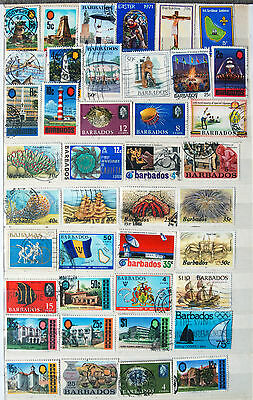 Fine Great Collection of Different Used Barbados Stamps.