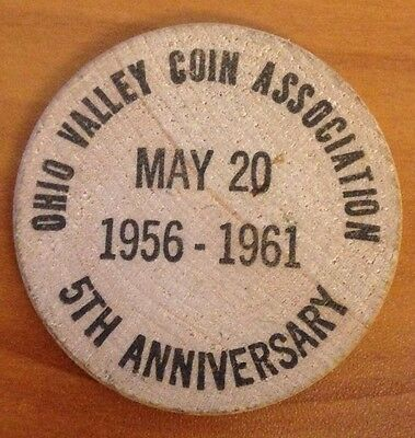 Vintage Wooden Nickel - Ohio Valley Coin Association - 1961