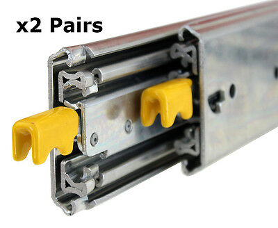 227kg Locking Drawer Slides / Runners 1372mm x2 Pairs, Trailers, 4x4, Heavy Duty