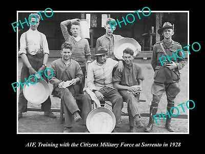 Old Large Historical Photo Of Aif Citizens Military Forces At Sorrento, Vic 1928