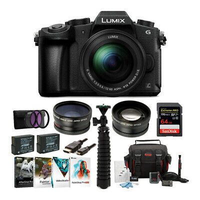 Panasonic LUMIX DMC-G85MK 4K Mirrorless Camera with 12-60mm Lens Bundle
