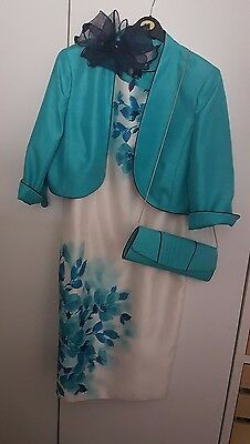 jacques vert mother of the bride wedding outfit 16( plus bag and fascinator)