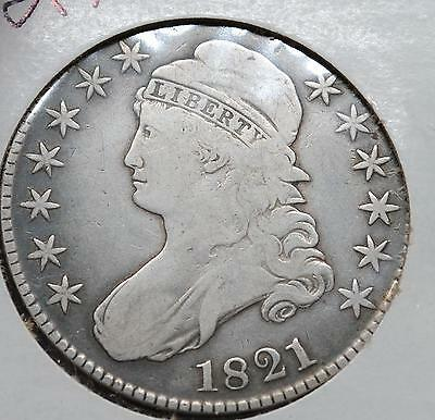1821 Capped Bust Half Dollar - Silver