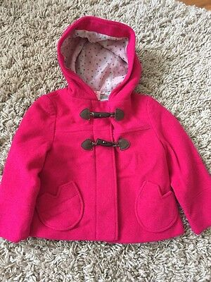Kids Laura Ashley Pink Wool Coat Age 2-3 Excellent Condition