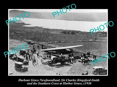 Old Historic Photo Of Harbour Grace Newfoundland, Charles Kingsford-Smith 1930 1