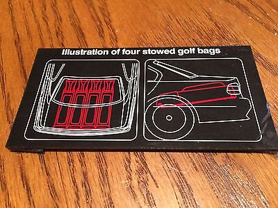 """BMW  740iL Trunk """"Illustraion of Four stowed GOLF Bags"""" Stick On"""