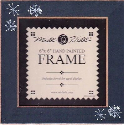 """Mill Hill FRAME for Beaded Kits 6"""" x 6"""" MATTE BLUE WITH SNOWFLAKES #GBFRFA15"""