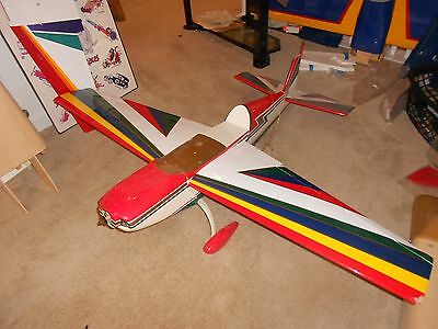 New Build  R/c Patern  Airplane Os Max Bx1 Nitro Power Never Started 6Ft Wing