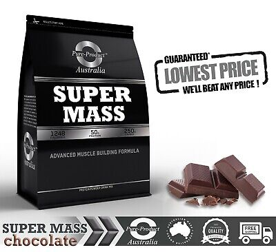 9kg MASS GAINER POWDER WHEY ISOLATE & CONCENTRATE WEIGHT SERIOUS CHOCOLATE