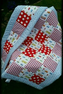 Cath Kidston Rosali Spot, Check And Cars Quilt + Bumper Set Handmade  Patchwork