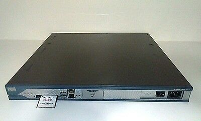Cisco 2811 Router 512D/128F C2800NM-IPBASE-M 12.4(15)T10 w/ WIC 1DSU-1 V2 Tested