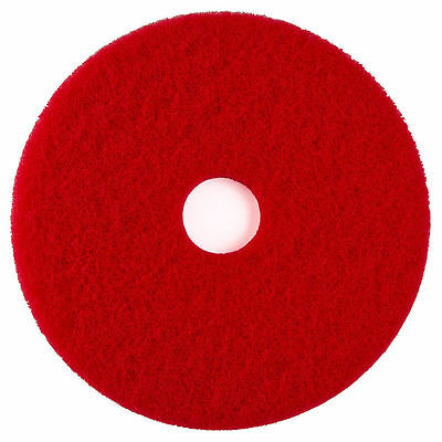 """25 First Quality Select Floor Machine Pads Red 19"""" ETC Light Clean/Spray Buff"""