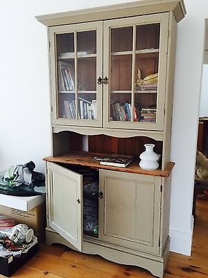 Antique oak/pine painted glazed dresser