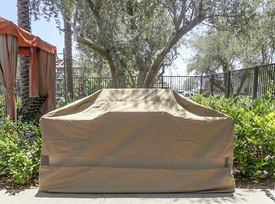 """Outdoor Patio BBQ Grill Island Cart Cover Outdoor Kitchen Island Cover Fit 124""""L"""