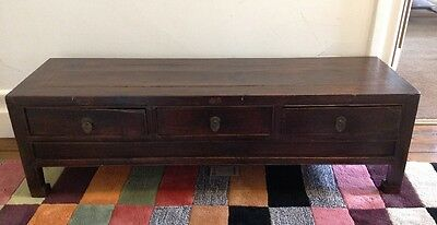 Antique Elm Chinese Cabinet, Cupboard, Sideboard, TV Cabinet,