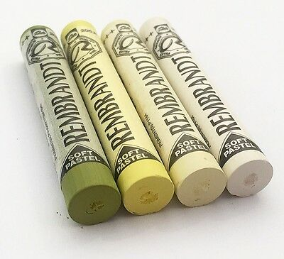 Rembrandt Soft Pastels 4 Shades Of Lemon Yellow Full Sticks Lot 686. Duckpond