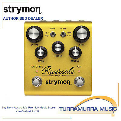 Strymon Riverside Multistage JFET Drive Overdrive Guitar Effects FX Pedal