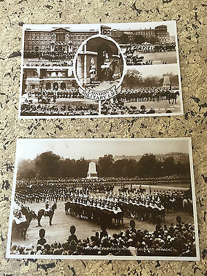 89 Two Vintage Post Cards - London's Military Life & Trooping the Colour