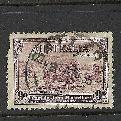 1934 KGV SG152  9d Purple  Used AUSTRALIA CV £45