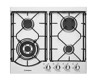 Westinghouse WHG644SA 60cm stainless steel gas cooktop with wok burner
