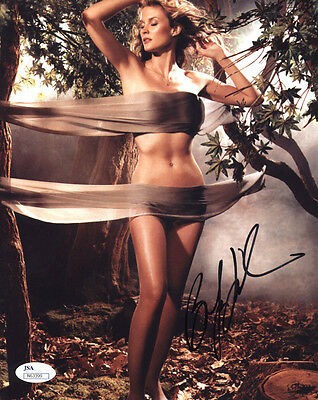 (SSG) Sexy BONNIE SOMERVILLE Signed 8X10 Color Photo - JSA (James Spence) COA