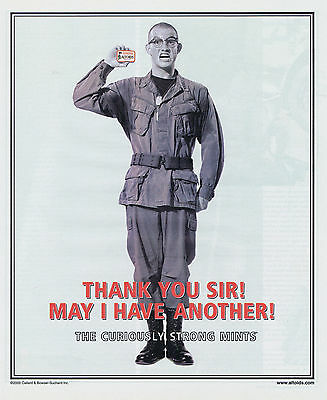 """2000 Altoids """"Thank You Sir!  May I Have Another!"""" Print Ad"""
