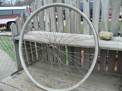 Early 1900's Vintage Bicycle Tin Covered Wood Rim/wheel/front