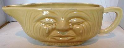 Unique Crying Onion Ceramic Sauce Boat Collectable/Usable/Tableware