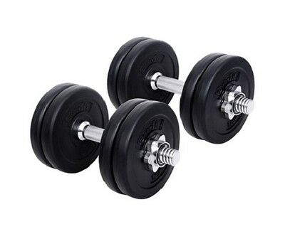 NEW 15kg Fitness Home Gym Body Muscle Workout Strength Exercise Dumbbell Set