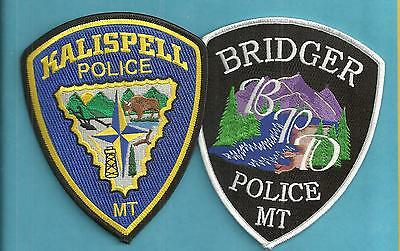 2 New Style Montana-  Kalispell Police Dept & Bridger Police Department