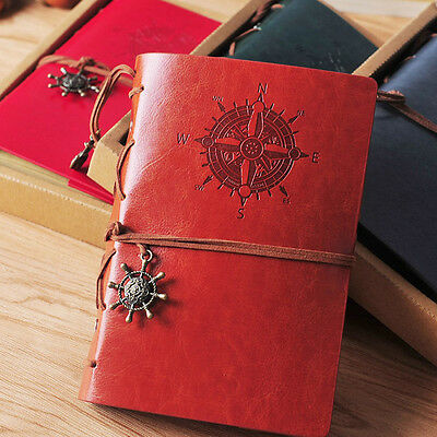 Handmade Vintage Retro Leather Cover Journal Jotter Diary Notebook Sketchbook