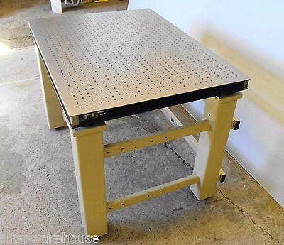free crate & ship TMC CLEAN TOP OPTICAL TABLE w/ BENCH, honeycomb breadboard