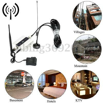 GSM 900MHz Mobile Cell Phone Signal Booster Repeater Amplifier Antenna US Plug