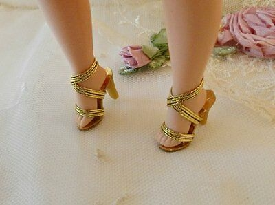 Cissette All Gold High Heel Doll Shoes~Replica Of Qrig.