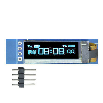 "IIC I2C 0.91"" inch 128x32 Blue OLED LCD Display Module 3.3v 5v FOR AVR Arduino"
