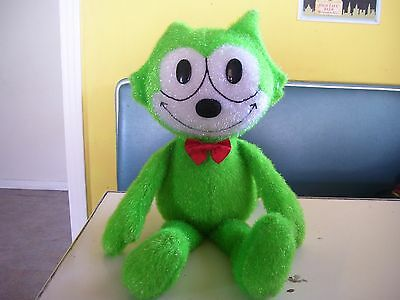 """Felix the Cat Green 24"""" Plush from Toy Works Stuffed Animal"""