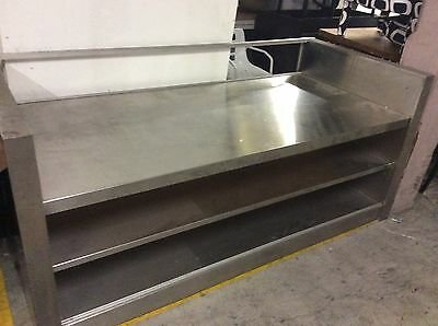 Retail Shop Counter. Large Stainless Steel Custom Made Piece
