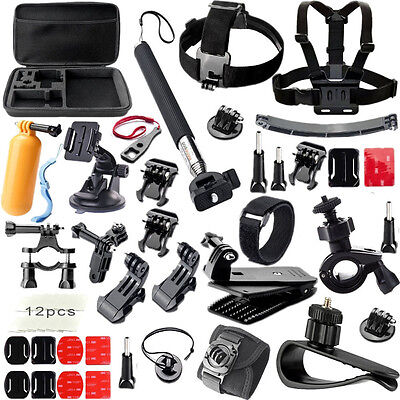 Accessories Set Chest Head Mount Strap Monopod for Go pro hero3 Hero 5 4 3+ 3